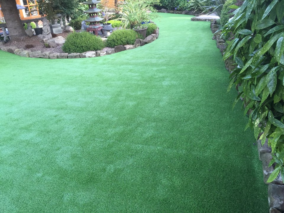 beautiful fake lawn