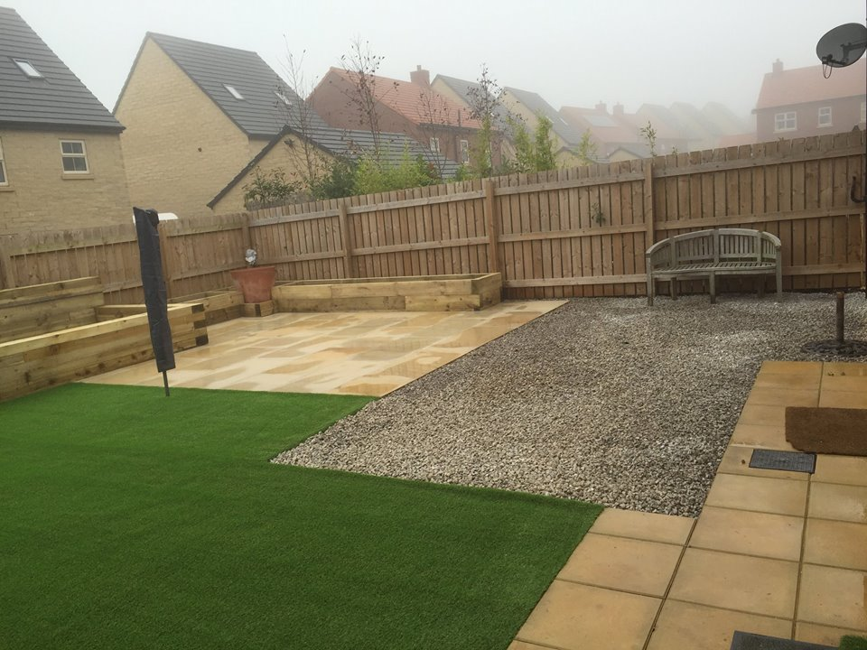 artificial turf in back garden