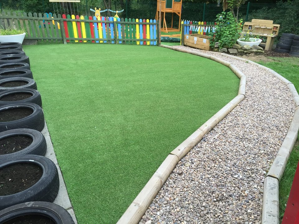 artificial grass installation kids play area