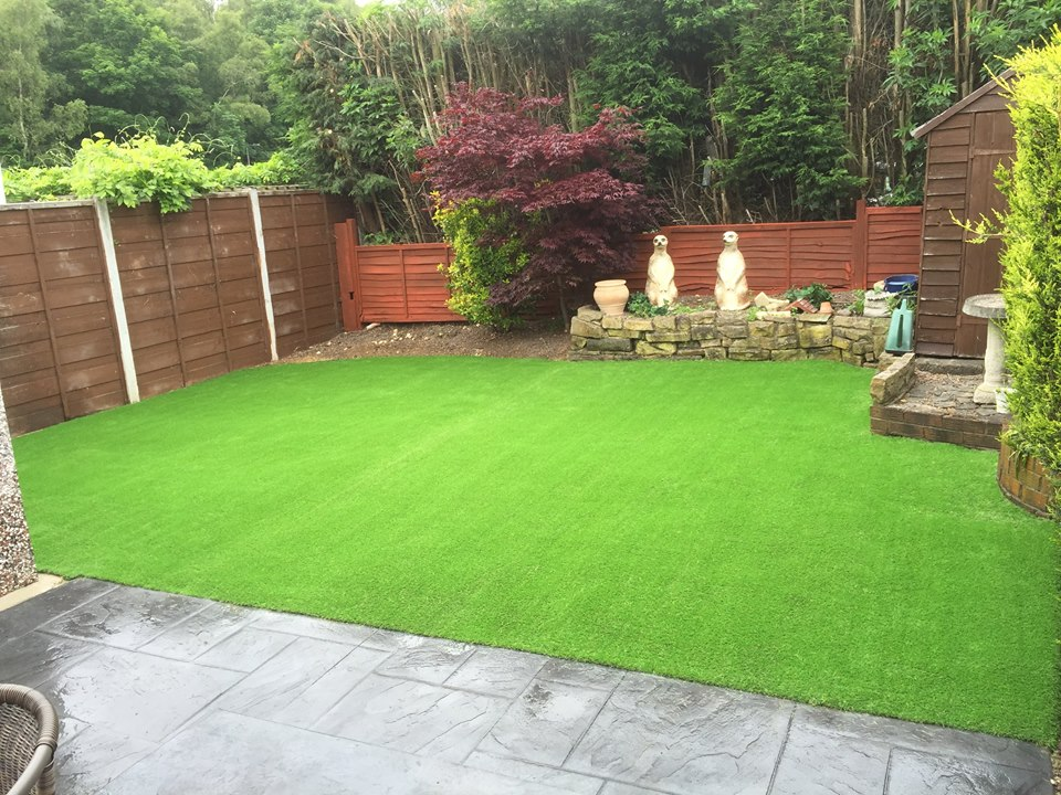 a recent artificial grass installation
