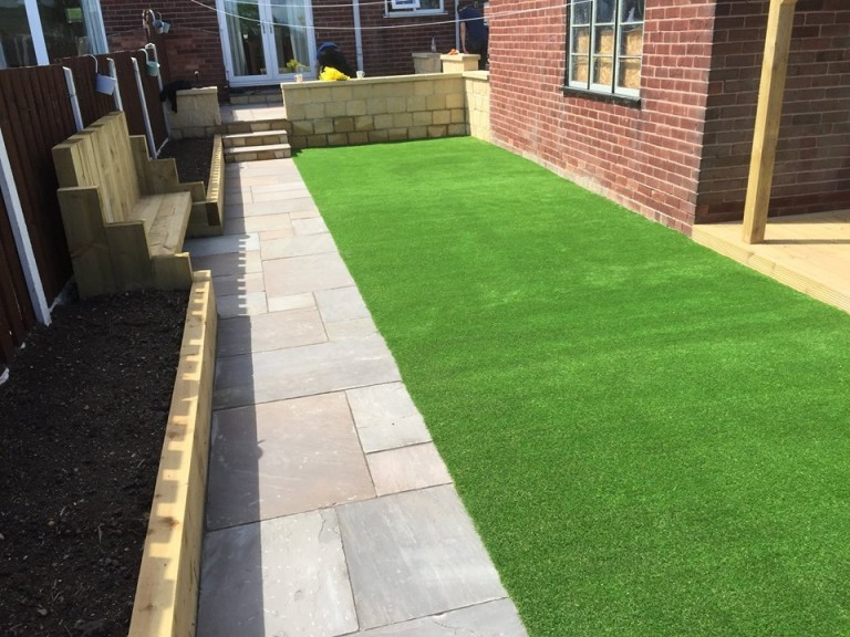 artificial turf lawn Mansfield Notts